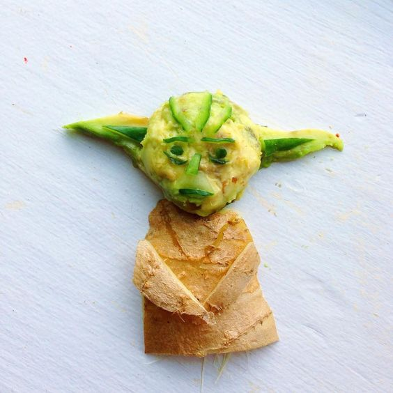 Lauren Ho Yoda Food - Lauren Ho's Wonderful World of Food Art