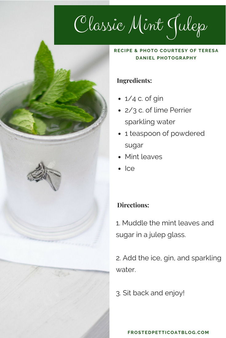 Mint Julep Recipe Card - Entertaining in Memphis