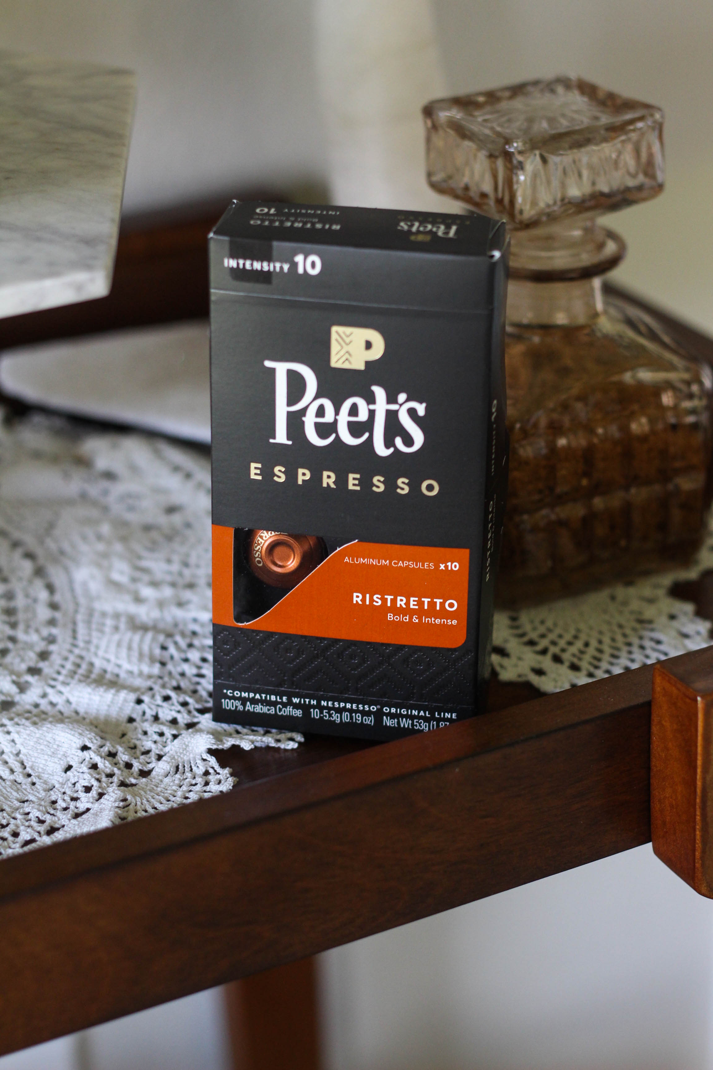 Peets Espresso Capsules for Nespresso Coffee Bar 1 - Caffeine Fix with Peet's Espresso