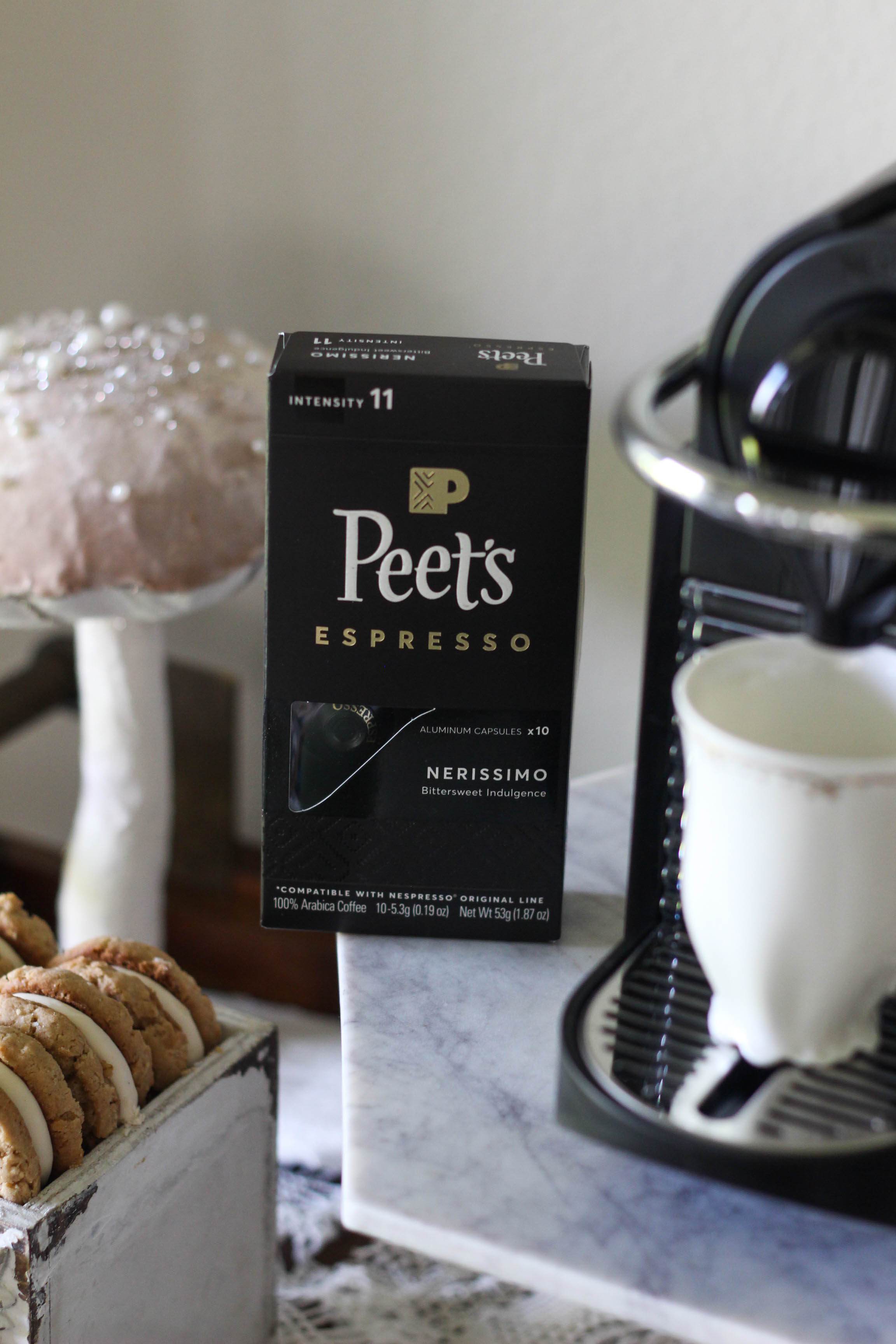 Peets Espresso Capsules for Nespresso Coffee Bar 2 - Caffeine Fix with Peet's Espresso