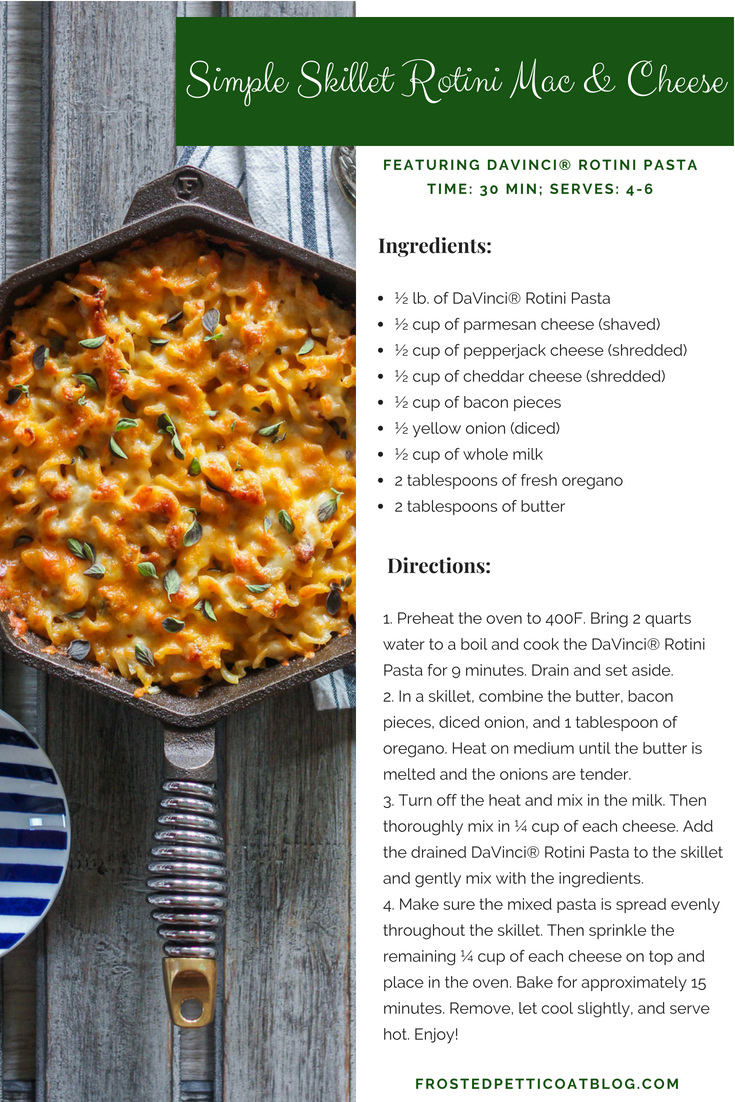 Recipe Card Simple Skillet Rotini Mac Cheese - Simple Skillet Rotini Mac & Cheese