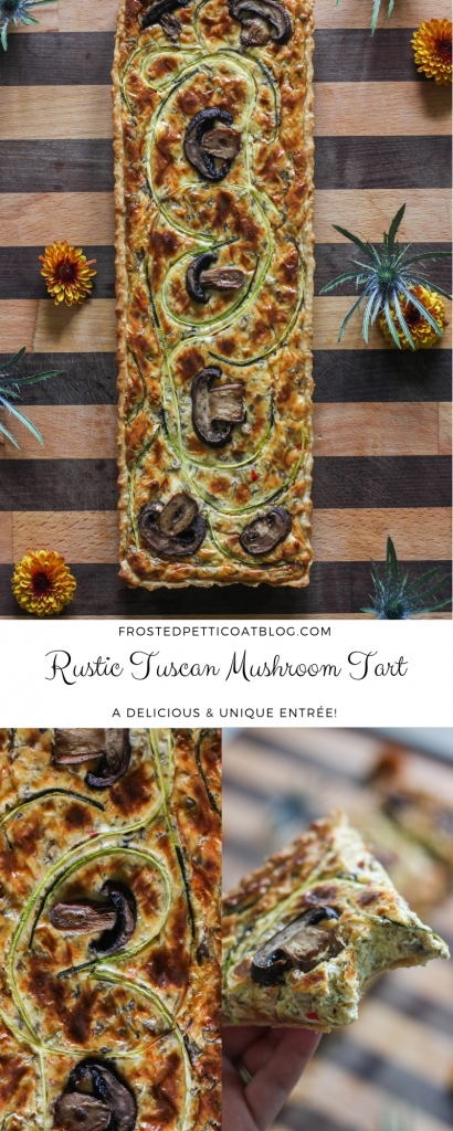 Rustic Tuscan Mushroom Tart Recipe 410x1024 - Rustic Tuscan Mushroom Tart